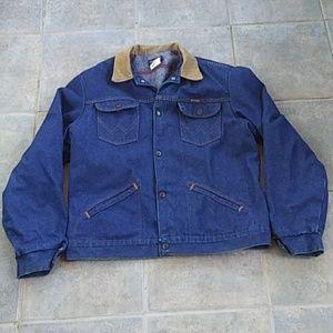 Wrangler Blanket Lined Vintage 70's Jean Jacket